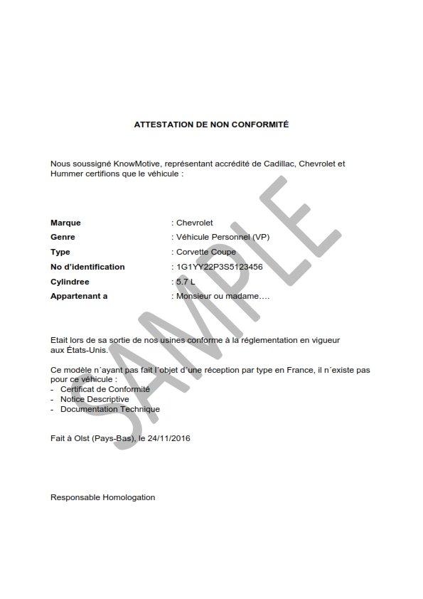 limmatriculation dune voiture americaine en France1 - Comment Homologuer une voiture des Emirats Arabes Unis ou Dubai