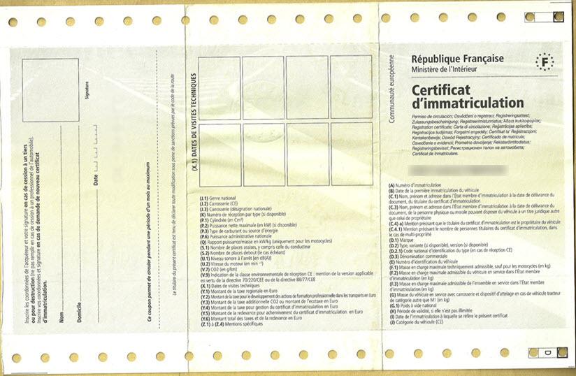 limmatriculation dune voiture americaine en France3 - Comment Homologuer une voiture des Emirats Arabes Unis ou Dubai