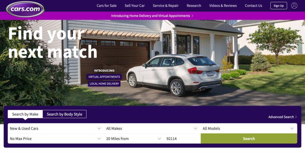Cars.com Un site de petites annonces de voitures aux USA 1024x517 1 - Trouver le site de vente de voiture d'occasion aux etats unis